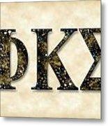 Phi Kappa Sigma - Parchment Metal Print