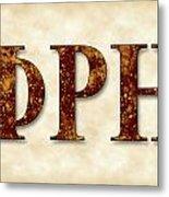 Phi Rho Eta - Parchment Metal Print