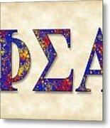 Phi Sigma Alpha - Parchment Metal Print
