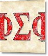 Phi Sigma Phi - Parchment Metal Print