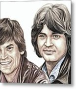 Phil And Don Everly Metal Print