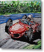 Phil Hill At Nurburgring. Metal Print
