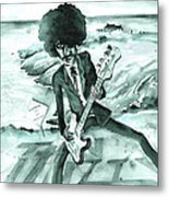 Phil Lynott In Howth Metal Print