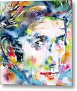 Phil Ochs - Watercolor Portrait Metal Print