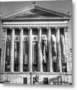 Philadelphia Art Museum Back 1 Bw Metal Print