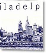 Philadelphia Blueprint  Metal Print