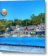 Philadelphia  Boat House Row And Zoo Balloon Metal Print