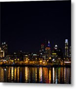 Philadelphia - Bright Lights Big City Metal Print by Bill Cannon