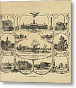 Philadelphia By James Fuller Queen Metal Print