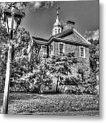 Philadelphia Carpenter's Hall East Side 4 Bw Metal Print