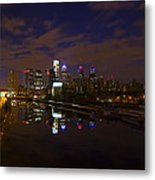 Philadelphia From South Street At Night Metal Print by Bill Cannon