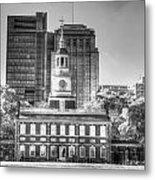 Philadelphia Independence Hall 6 Bw Metal Print