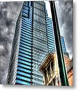 Philadelphia Liberty Place Tower And Street Lamp 1 Metal Print