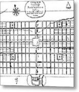 Philadelphia: Map, 1683 Metal Print