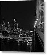 Philadelphia Night B/w Metal Print