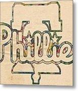 Philadelphia Phillies Logo Art Metal Print