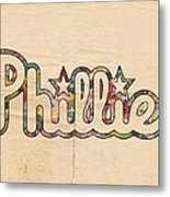 Philadelphia Phillies Poster Art Metal Print