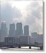 Philadelphia Schuylkill River View Metal Print by Bill Cannon