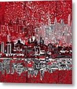 Philadelphia Skyline Abstract 4 Metal Print by Bekim Art