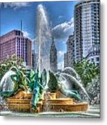 Philadelphia  Swan Fountain 1 Metal Print