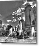 Philadelphia-swan Fountain Metal Print