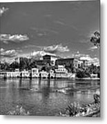Philadelphia Water Works And Art Museum 2 Bw Metal Print