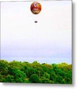 Philadelphia Zoo Balloon Over The Schuylkill River Metal Print