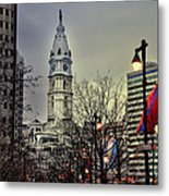Philadelphia's Iconic City Hall Metal Print by Bill Cannon