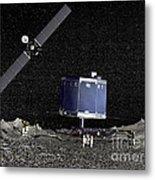 Philae Lander On Surface Of A Comet Metal Print