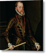 Philip II Of Spain C.1570 Metal Print