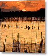 Philippines Manila Fishing Metal Print by Anonymous