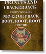Phillies Peanuts And Cracker Jack  Metal Print by Movie Poster Prints