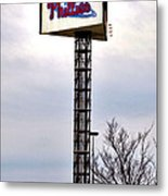 Phillies Stadium Sign Metal Print by Bill Cannon