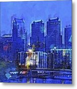 Philly Blue Metal Print