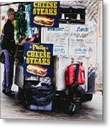 Philly Cheese Steak Cart Metal Print