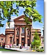 Philly Church View Metal Print