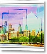 Philly Colours Metal Print