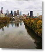 Philly Fall River View Metal Print