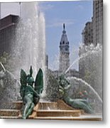 Philly Fountain Metal Print