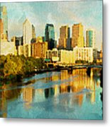 Philly Gleamin Metal Print