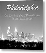 Philly Glow Metal Print
