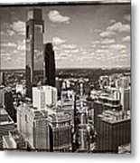 Philly In The Clouds Metal Print