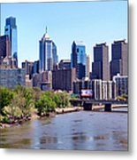 Philly Skyline Metal Print