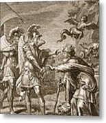 Phineus Is Delivered From The Harpies Metal Print