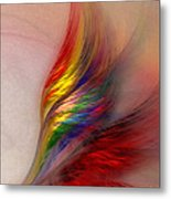 Phoenix-abstract Art Metal Print by Karin Kuhlmann