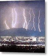 Phoenix Arizona City Lightning And Lights Metal Print by James BO  Insogna