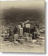 Phoenix Az Downtown 2014 Heirloom Metal Print