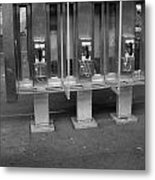 Phone Booth In New York City Metal Print