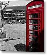 Phone Box London Metal Print