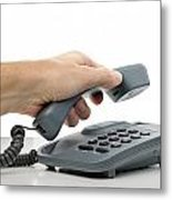 Phone Call Metal Print
